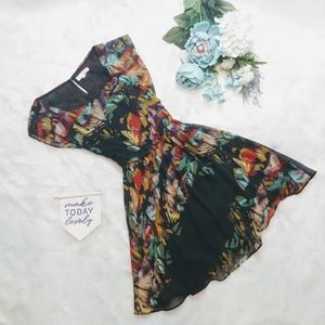 Nordstrom Lush Black Abstract Dress